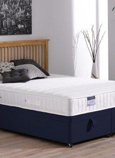 Kendall Pocket Sprung Ottoman Bed - Firm - Blue 3'0 Single