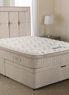 Silentnight Langley Mirapocket Ottoman Bed - Medium 4'6 Double Off White
