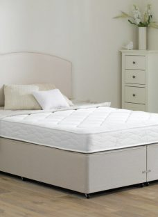 Taylor Traditional Spring Divan Bed - Medium - Beige 4'6 Double Off White