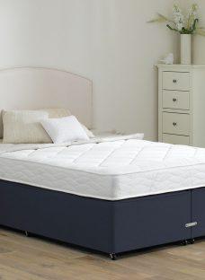 Taylor Traditional Spring Divan Bed - Medium - Blue 2'6 Small Single