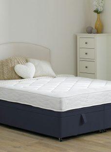 Taylor Traditional Spring Ottoman - Medium - Blue 4'6 Double
