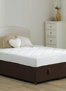 Taylor Traditional Spring Ottoman Divan Bed - Medium - Mocha 5'0 King Dark Brown
