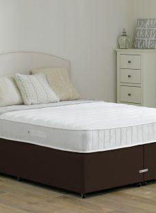 Wakefield Pocket Sprung Divan Bed - Firm - Mocha 3'0 Single Dark Brown