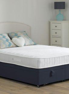 Wakefield Pocket Sprung Ottoman Bed - Firm - Blue 6'0 Super King