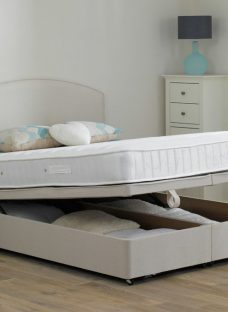 Wakefield Pocket Sprung Ottoman Bed - Firm - Beige 4'6 Double Off White