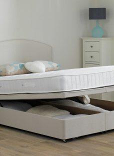 Wakefield Pocket Sprung Ottoman Bed - Firm - Beige 6'0 Super King Off White