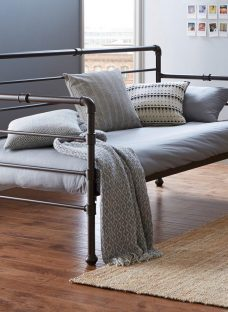 Oswald Metal Day Bed BROWN