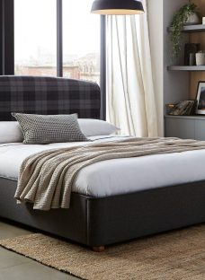 Donnie Grey Tartan Bed Frame 5'0 King