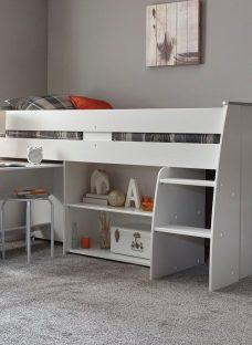 Benham Mid Sleeper Bed Frame WHITE