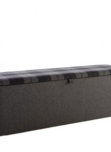 Donnie Tartan Fabric Blanket Box GREY