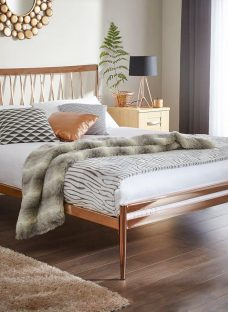 Blake Copper Metal Bed Frame 4'6 Double