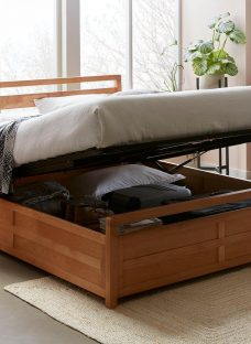 Woodstock Wooden Ottoman Bed Frame 5'0 King BROWN