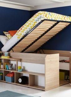 Harley Mid Sleeper Bed Frame BROWN