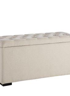Deacon Upholstered Blanket Box CREAM