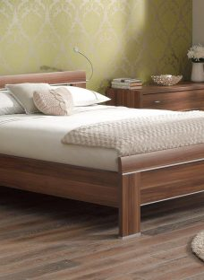 Berkeley Walnut Wooden Bed Frame 4'6 Double BROWN
