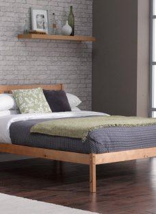 Sandhurst Pine Wooden Bed Frame 4'6 Double BROWN