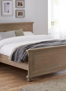 Jameson Natural Pine Wooden Bed Frame 4'6 Double CREAM
