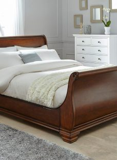 Orleans Walnut Wooden Bed Frame 4'6 Double BROWN