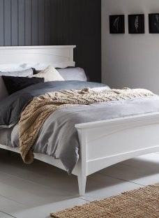 Miller White Wooden Bed Frame 4'6 Double