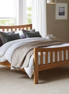 Sherwood Dark Wooden Bed Frame 4'6 Double BROWN