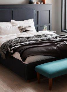 Stratford D Indigo & Teal Blue (Solid Slats) 4'6 Double