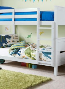 Hutchin Bunk Bed Frame WHITE