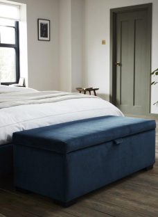 Salisbury Teal Blue Storage Box