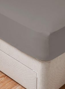 Doze Easy Care Fitted Sheet 5'0 King GREY