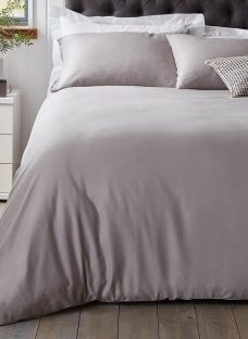 Doze Easy Care Duvet Cover 4'6 Double GREY