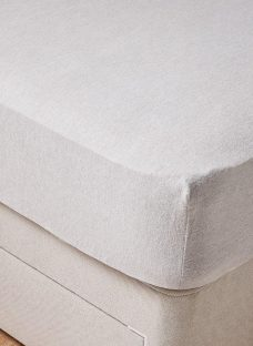 Doze Brushed Cotton Fitted Sheet 6'0 Super king GREY