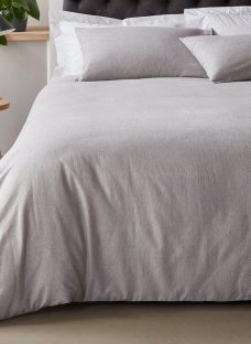 Doze Brushed Cotton Duvet Cover 4'6 Double GREY