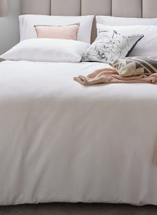 Flaxby 400 Thread Count Duvet Cover 6'0 Super king WHITE