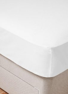 Flaxby 400 Thread Count Flat Sheet 4'6 Double WHITE