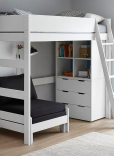 Anderson White High Sleeper With Black Chair