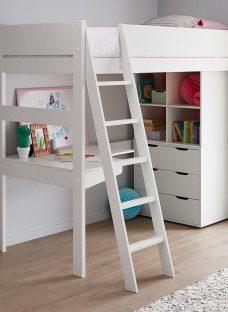 Anderson White Desk High Sleeper With Storage