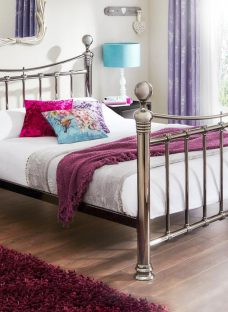 Nelson Black Nickel Metal Bed Frame 4'6 Double