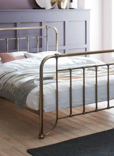 Dinton K Brass Bed (Solid Slats) 5'0 King