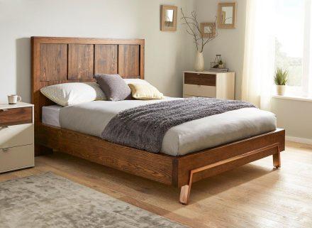 Grant Dark Wood and Copper Bed Frame 6'0 Super king