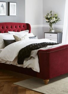 Macgill Red Velvet Bed Frame 4'6 Double