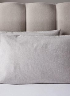 Doze Brushed Pillowcase Pair Grey