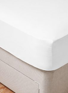 Therapur Cool Fitted Sheet 4'6 Double WHITE