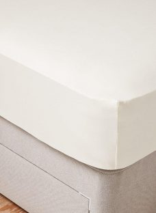 Tempur-Fit Single Fitted Sheet Natural 3'0 Single CREAM