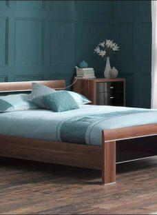 Berkeley Black Wooden Bed Frame White 4'6 Double