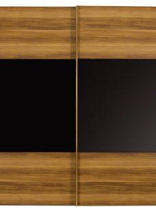 Berkeley 2 Door Sliding Wardrobe Black & Walnut - Large