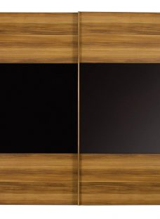 Berkeley 2 Door Sliding Wardrobe Walnut & Black - Medium