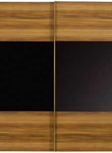 Berkeley 2 Door Sliding Wardrobe Black & Walnut - Extra Large