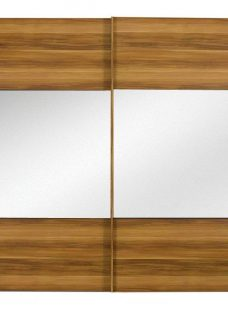 Berkeley 2 Mirror Door Sliding Wardrobe Walnut - Large BROWN