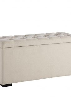 Deacon Upholstered Storage Chest CREAM