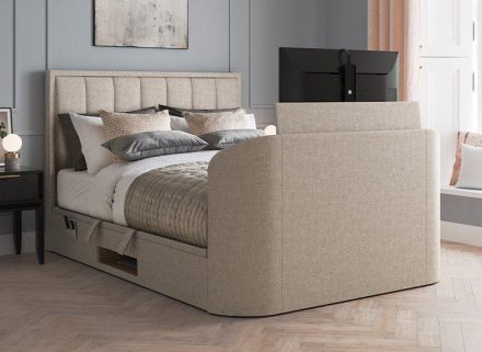 Fabulous Osaka Ottoman Tv Bed 60 Super King Oatmeal Bed Sava Creativecarmelina Interior Chair Design Creativecarmelinacom