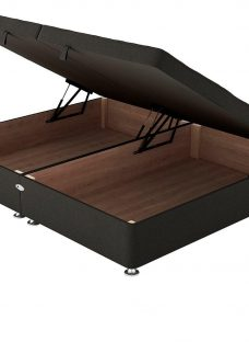 Therapur D Ottoman Base Only Tweed Charcoal 4'6 Double